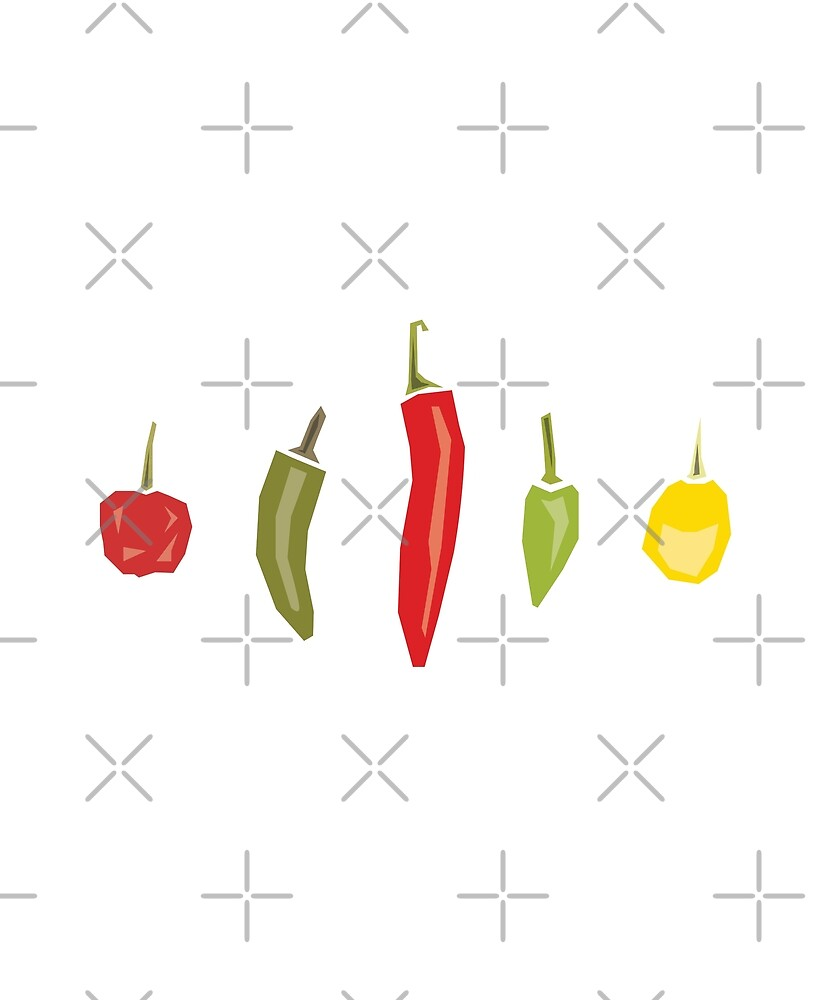 Chilli Peppers by jetblackyak