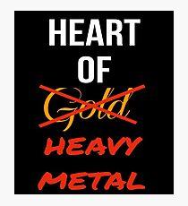 Heart Of Heavy Metal Photographic Print
