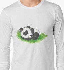 Sleepy Panda Cub Long Sleeve T-Shirt