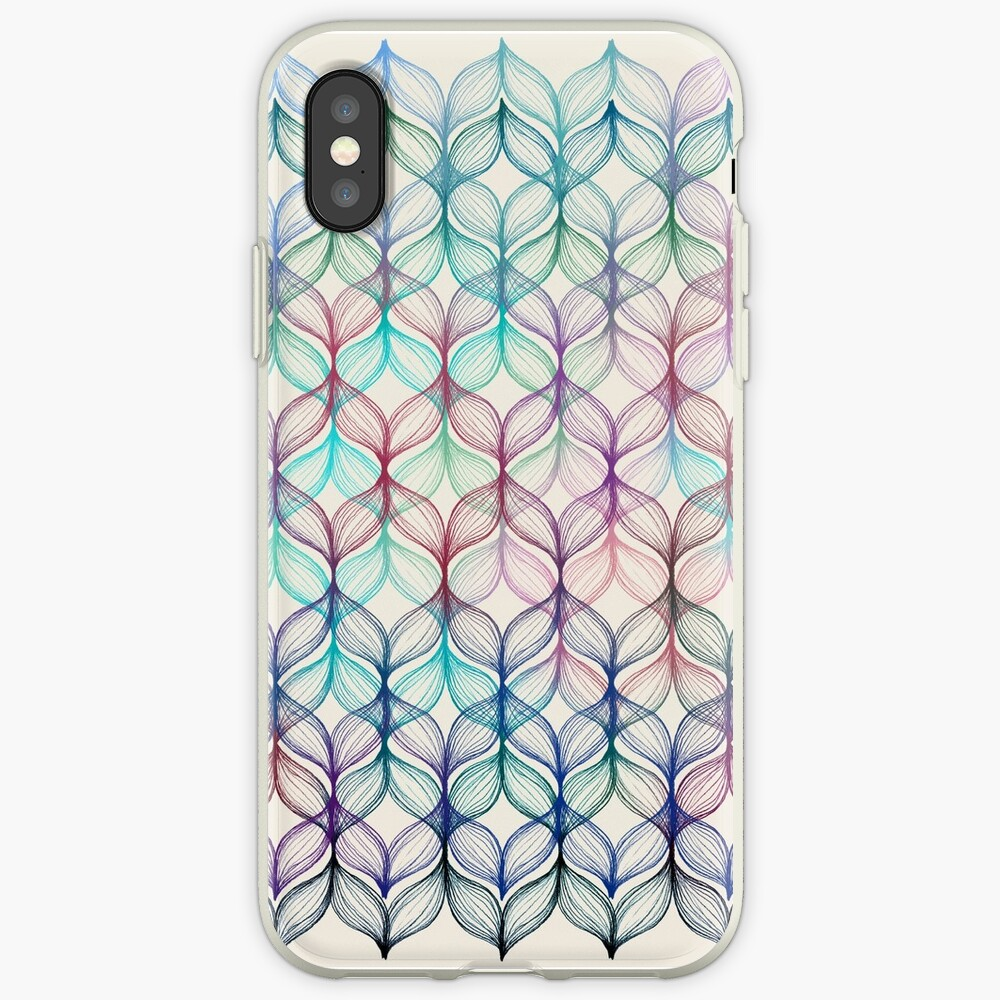 Mermaid's Braids - a colored pencil pattern iPhone Case & Cover