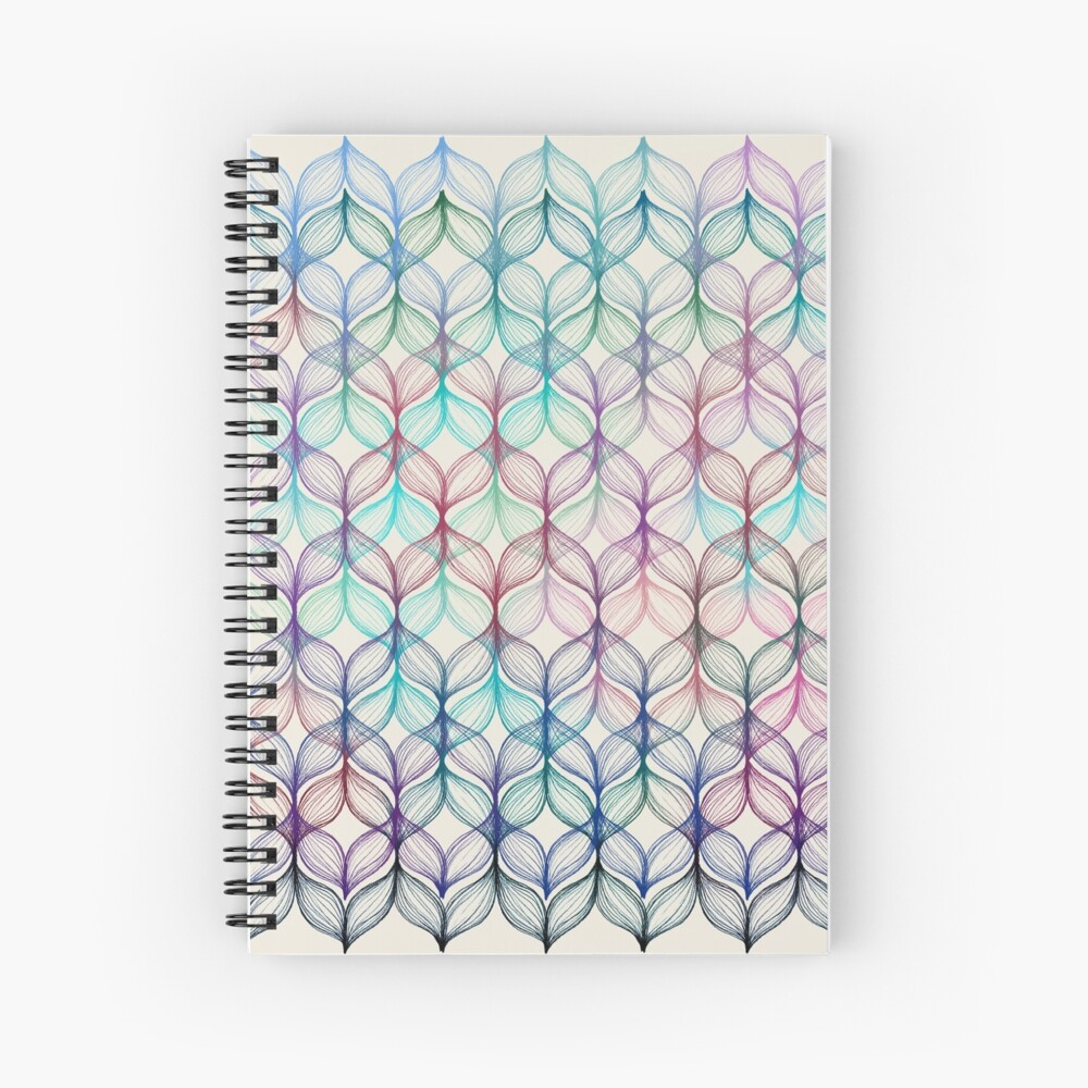Mermaid's Braids - a colored pencil pattern Spiral Notebook