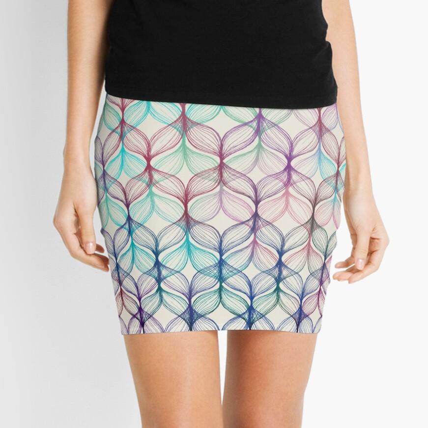Mermaid's Braids - a colored pencil pattern Mini Skirt