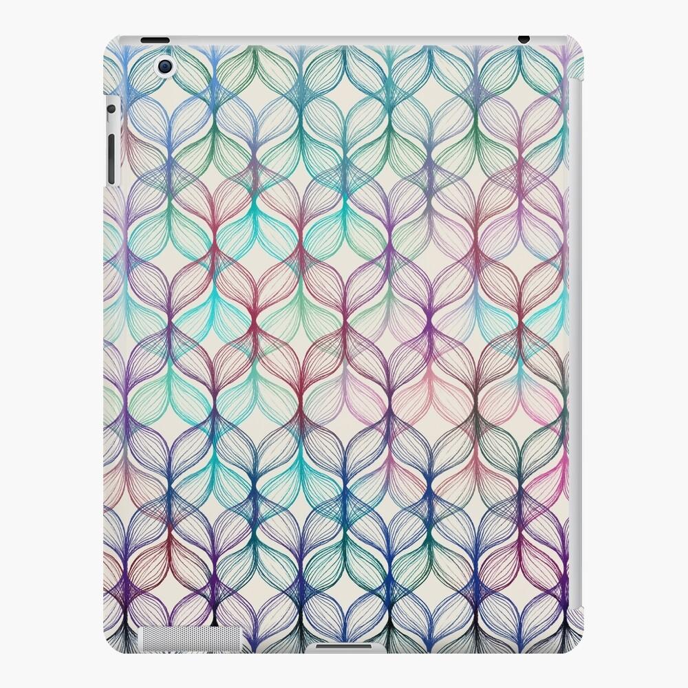 Mermaid's Braids - a colored pencil pattern iPad Case & Skin