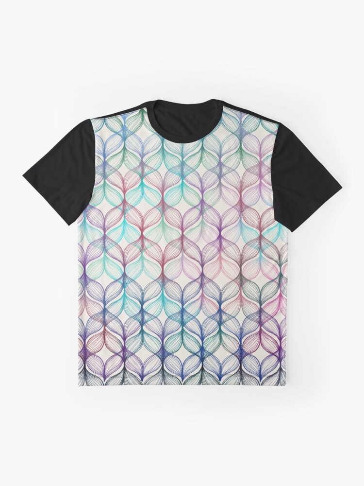Alternate view of Mermaid's Braids - a colored pencil pattern Graphic T-Shirt