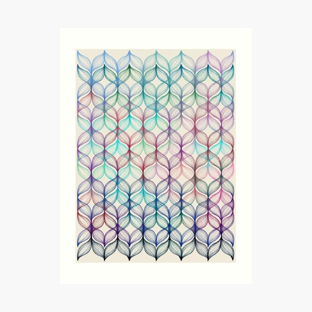 Mermaid's Braids - a colored pencil pattern Art Print
