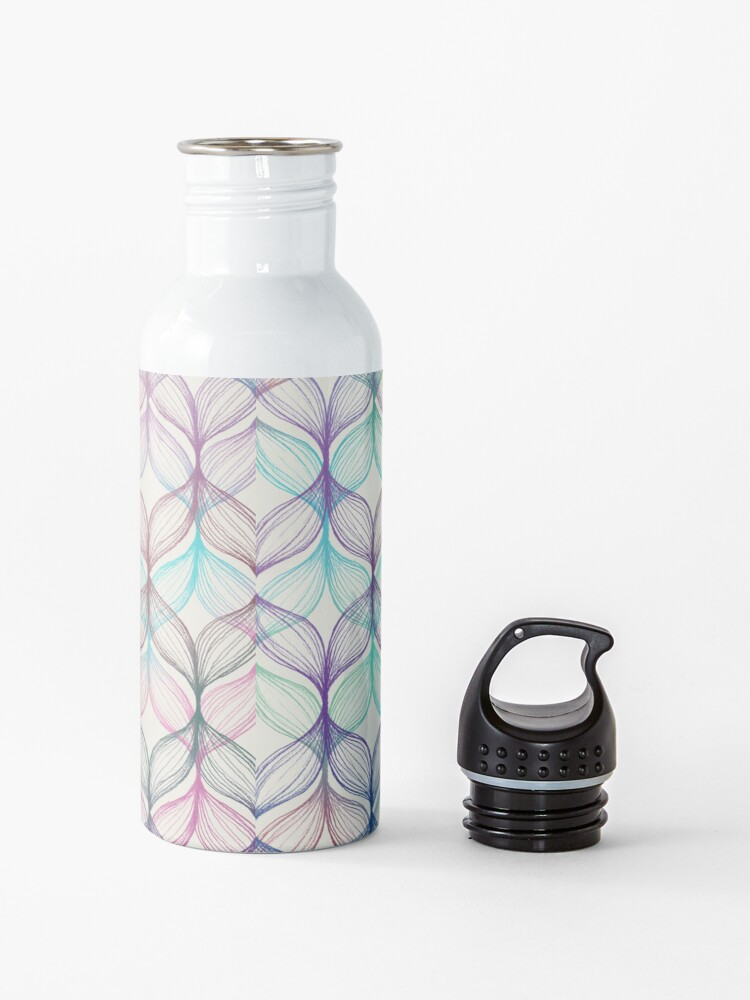 Alternate view of Mermaid's Braids - a colored pencil pattern Water Bottle