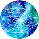 Sacred Geometry Sri Yantra art by Handmaiduns