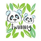 Twinning Pandas by Meltingpanda