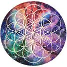 Sacred Geometry Flower of Life art by Handmaiduns