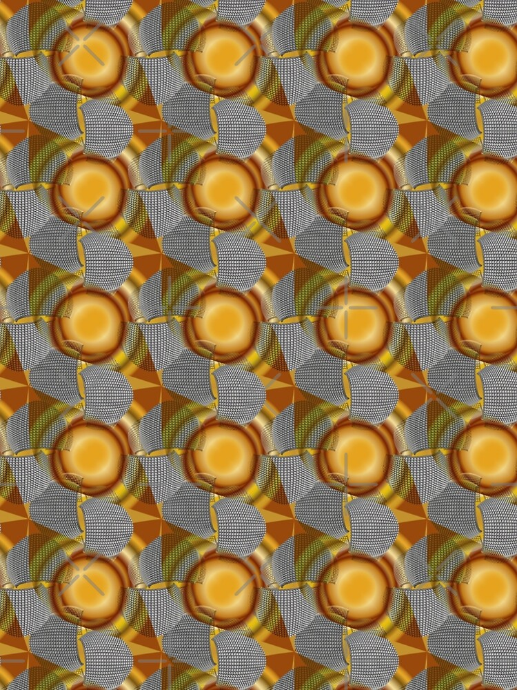 Metalight - Abstract chrome shapes with golden radial gradient by uniiunMB