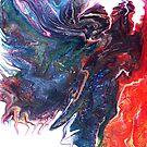 Fairy Mirage: fluid acrylic pour painting by kerravonsen