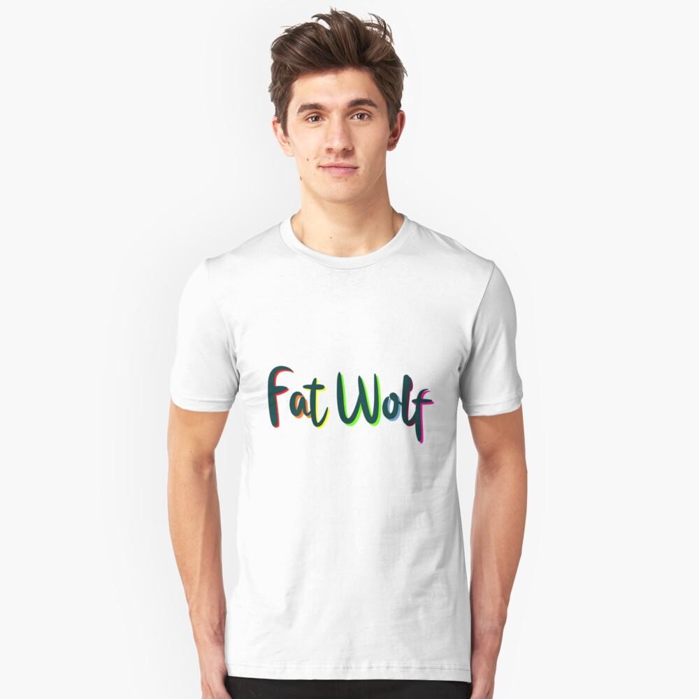Fat Wolf Rainbow (Black) Slim Fit T-Shirt