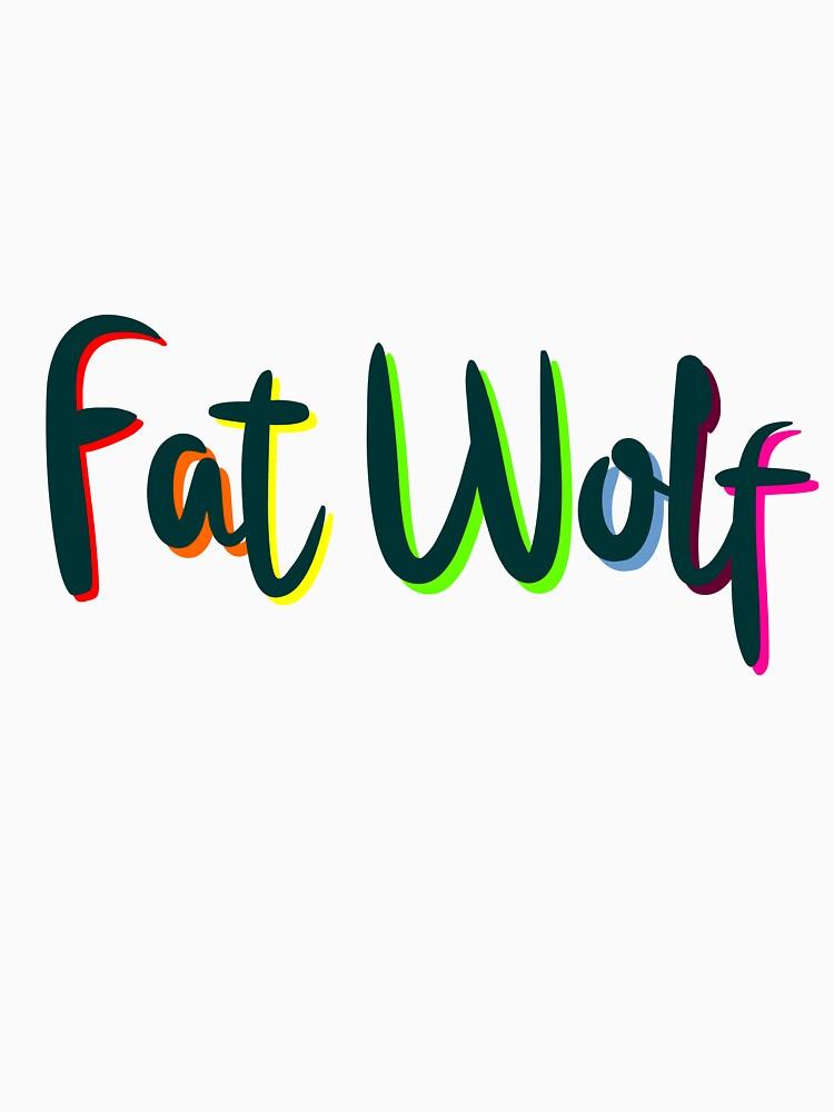 Fat Wolf Rainbow (Black) by danbadgeruk