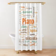 Piano Terminology Commonly Used Musicians Terms Shower Curtain