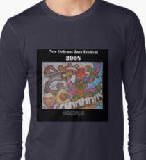 2008 New Orleans Jazz Fest Poster Long Sleeve T-Shirt