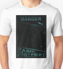 Danger, Carbon Footprint ( ii ) Cyan Blackout T-Shirt
