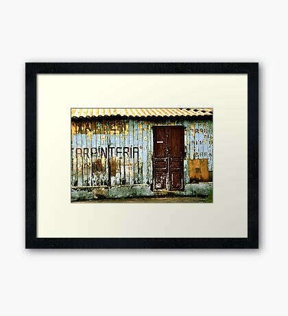 Carpintería Framed Print