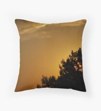 Late Evening Rooftop - Parker, Colorado Throw Pillow