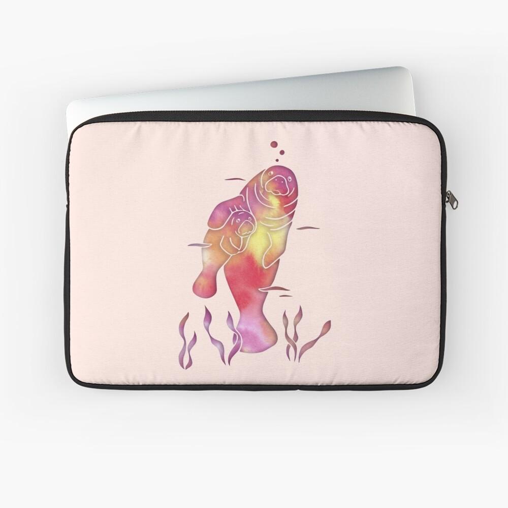 Peach Sea Manatees Laptop Sleeve