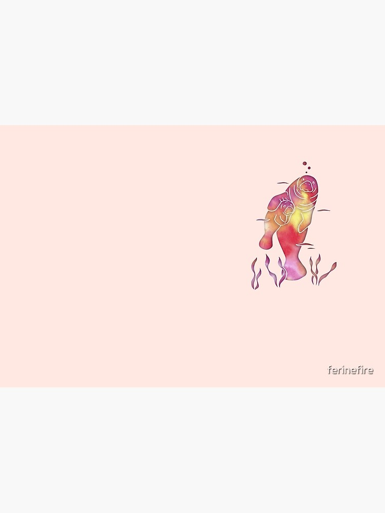 Peach Sea Manatees by ferinefire