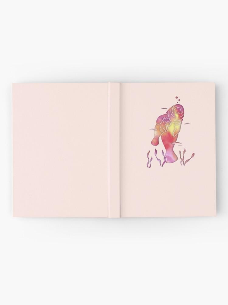 Alternate view of Peach Sea Manatees Hardcover Journal