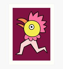 Run run chicken boy Art Print