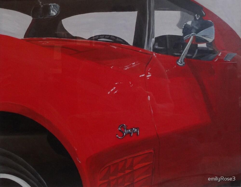 Red Corvette Stingray by emilyRose3