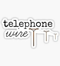 Telephone Wire Sticker