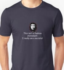Che White on Black Unisex T-Shirt