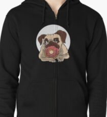 Dog with donut Zipped Hoodie