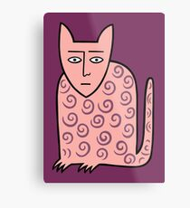 Alan the happy cat Metal Print