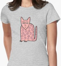 Alan the happy cat Fitted T-Shirt