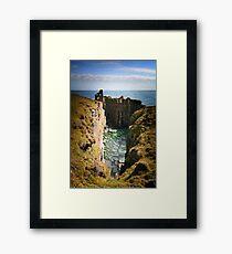 Buchollie Caslte, Wick, Caithess, Scotland Framed Print