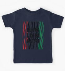 Black Lives Matter Tiger Print Kids Tee