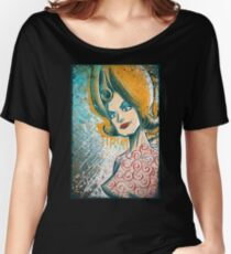 Mars Attacks art tim burton woman martian girl lisa marie poster drawing science fiction cult classic b-movie bmovie sci fi sexy joe badon Women's Relaxed Fit T-Shirt