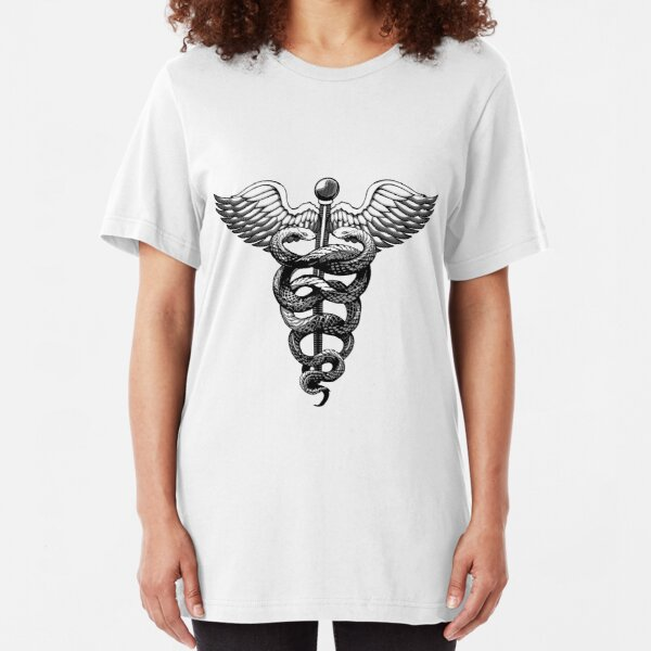 Caduceus FOR STICKER Slim Fit T-Shirt