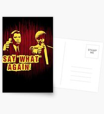 """Jules and Vincent """"Say wHat again"""" Postcards"""
