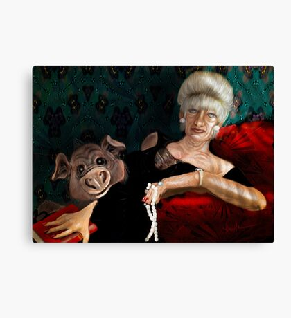 Pearl Before Swine, by Alma Lee Canvas Print