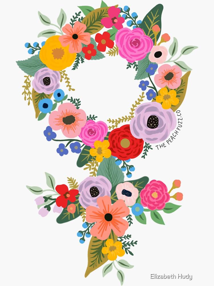 Floral Feminist - The Peach Fuzz by elizabethhudy