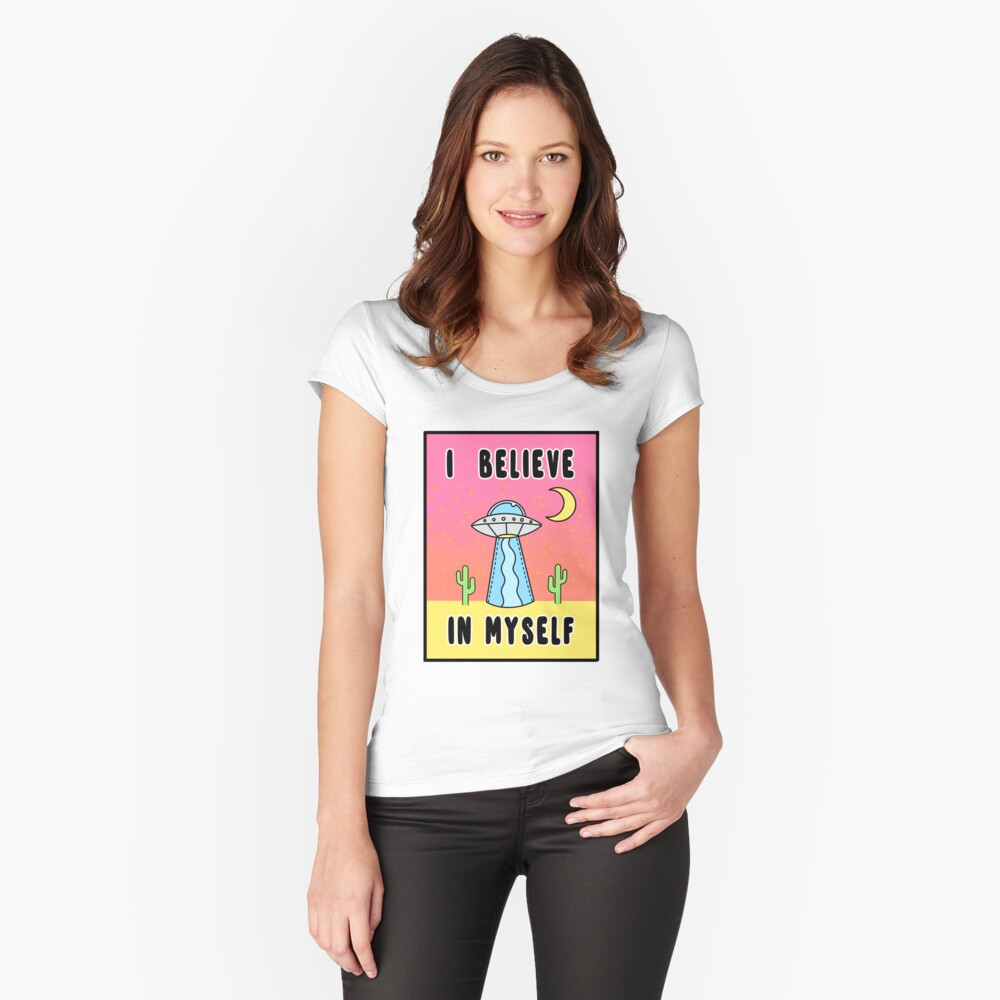 I Believe In Myself - The Peach Fuzz Fitted Scoop T-Shirt