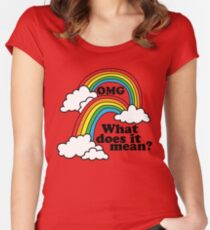 Double Rainbow - OMG Women's Fitted Scoop T-Shirt