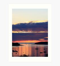 Late Summer Sunrise over Mount Desert Island, Maine Art Print