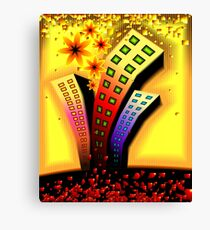 Multi-storeyed  building in an amusing environment	 Canvas Print