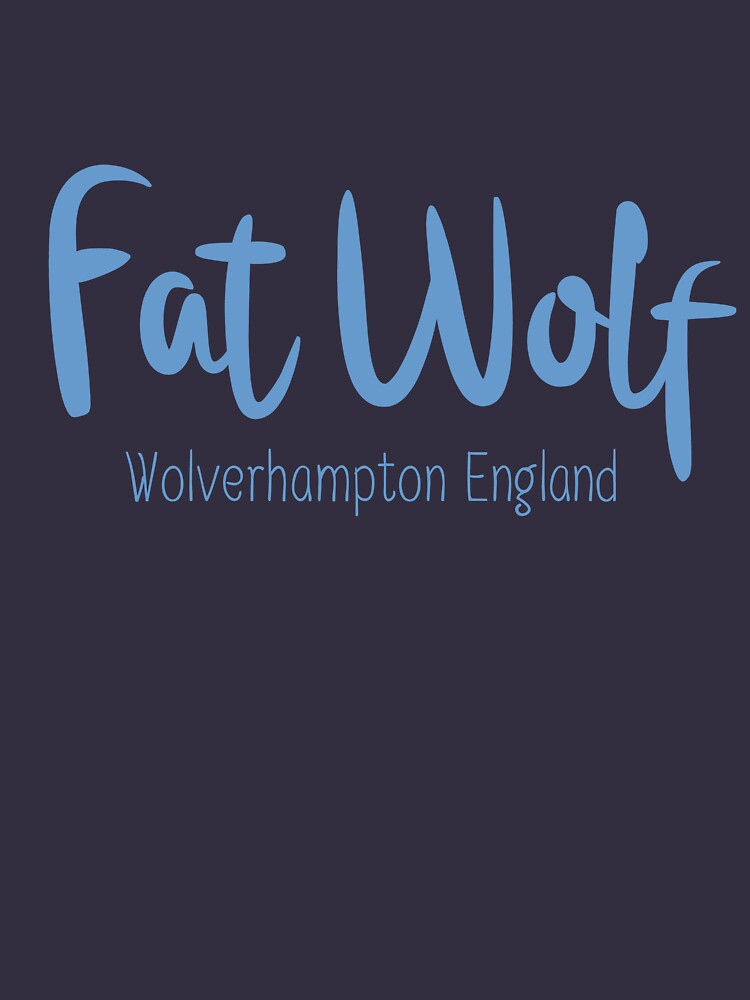 Fat Wolf Logo (Blue) by danbadgeruk
