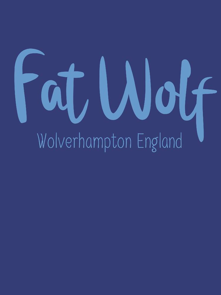 Fat Wolf Logo (Blue) by danbadgeruk
