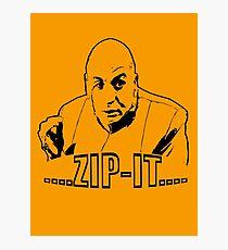 Austin Powers Dr. Evil Zip It T shirt Photographic Print