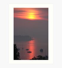 Amazing Sunrise over Mount Desert Island, Maine Art Print