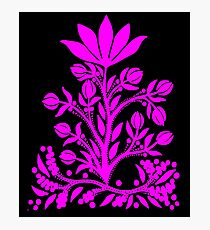 Pink Velvet Flower Photographic Print