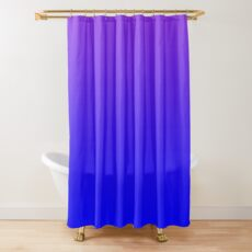 Modern Violet and Bright Blue Ombre Shower Curtain