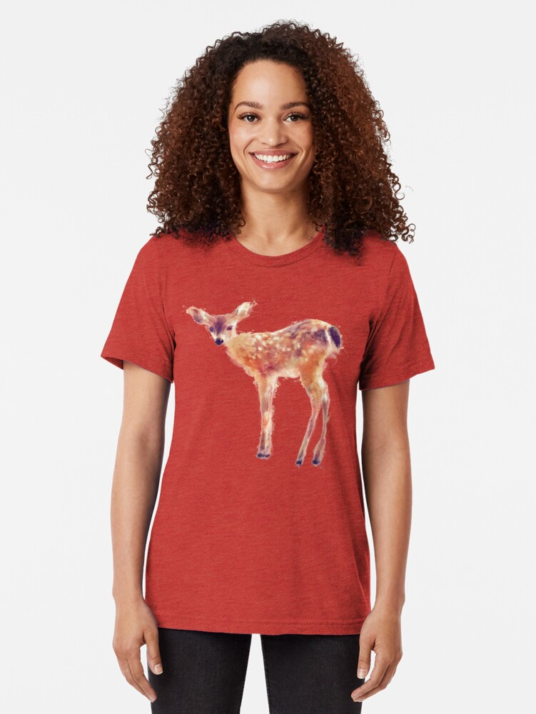Alternate view of Fawn Tri-blend T-Shirt